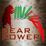 O urso vermelho que puxa castiçal desmorona do verde à tendência à baixa de queda da gota vermelha ilustração stock