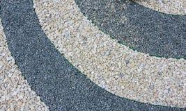 O uso das microplaquetas e dos pedregulhos de mármore na criação do jardim japonês das pedras Imagem de Stock Royalty Free