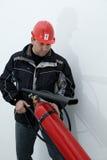 O uso dos extintores Fotos de Stock Royalty Free