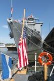 O USS Oak Hill em New York City Fotografia de Stock Royalty Free