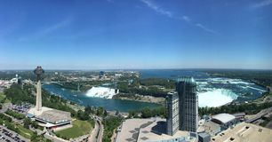 O véu nupcial das quedas do americano de Niagara Falls cai cachoeira Imagens de Stock Royalty Free