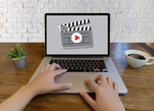 O vídeo audio do MERCADO VIDEO, introduz no mercado os canais interativos, Bu imagens de stock