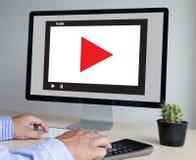 O vídeo audio do MERCADO VIDEO, introduz no mercado os canais interativos, Bu imagem de stock royalty free