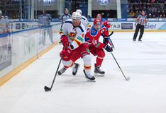 O. Vaanaanen (4) and A. Kuzmenko (96) Royalty Free Stock Photo