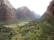 O vale da garganta, Zion National Park, Utá Imagens de Stock