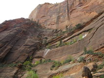 O vale da garganta, Zion National Park, Utá Fotos de Stock