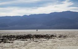 O Vale da Morte - bacia má da água Imagens de Stock Royalty Free