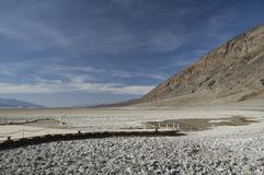 O Vale da Morte - bacia má da água Imagem de Stock Royalty Free
