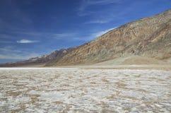 O Vale da Morte - bacia má da água Fotografia de Stock Royalty Free