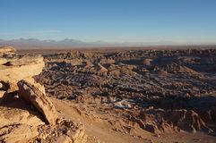 O Vale da Morte, deserto de Atacama, o Chile Imagem de Stock