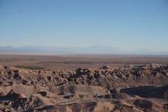 O Vale da Morte, deserto de Atacama, o Chile Foto de Stock Royalty Free