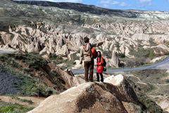 O vale de Dervent na região de Cappadocia de Turquia Foto de Stock Royalty Free