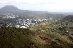O vale de Haria, Lanzarote Fotos de Stock Royalty Free
