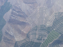 O vale de Maipo, Santiago de Chile, o Chile Fotografia de Stock