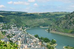 O vale de Rhine Fotografia de Stock