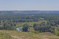 O vale do rio de Seversky Donets Fotos de Stock