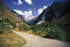 O vale dos ecrins os alpes franceses Imagens de Stock