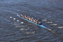 O vale grande compete na cabeça da faculdade Eights de Charles Regatta Men Foto de Stock