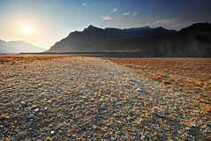 O vale rochoso. Montanha Altai Fotos de Stock Royalty Free