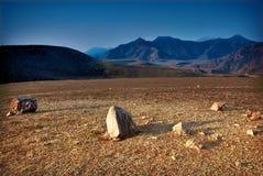 O vale rochoso. Montanha Altai Fotografia de Stock