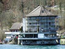 O valor do castelo ou do Schlossli do valor ou o valor de Schlosschen, Neuhausen são Rheinfall imagens de stock royalty free