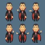 O vampiro mostra e indica Imagens de Stock Royalty Free