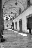 O Vasari Logge, Arezzo Pequim, foto preto e branco de China Imagem de Stock