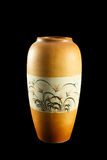 O vaso com pinturas florais é espetacular Foto de Stock Royalty Free