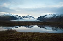 O Vatnajökull, a geleira a maior em Europa fotos de stock