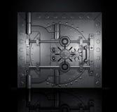 O vault de banco fechado, 3D rende Fotografia de Stock