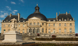 O Vaux-le-Vicomte castelo, França Fotografia de Stock Royalty Free