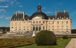 O Vaux-le-Vicomte castelo, França Fotos de Stock Royalty Free