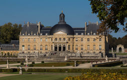 O Vaux-le-Vicomte castelo, perto de Paris, França Foto de Stock Royalty Free