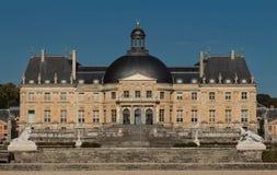 O Vaux-le-Vicomte castelo, perto de Paris, França Imagem de Stock