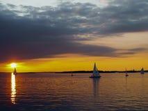 O veleiro no mar Fotografia de Stock