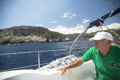 O veleiro participa na regata 11o Ellada da navigação Imagens de Stock