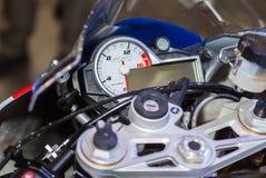 O velocímetro ostenta a bicicleta Foto de Stock