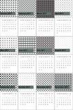 O veludo de algodão e a gôndola coloriram o calendário geométrico 2016 dos testes padrões ilustração royalty free