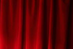 O veludo vermelho drapeja Foto de Stock Royalty Free