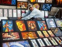 O vendedor da imagem Fotografia de Stock Royalty Free