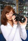 O vendedor da técnica da foto Imagens de Stock Royalty Free