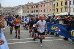 28o Venicemarathon: o lado amador Foto de Stock Royalty Free