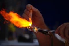 O ventilador de vidro cria uma cisne. Imagens de Stock Royalty Free
