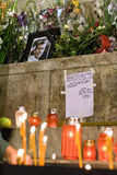 O ventilador francês morre depois que ataque dos hooligan Imagens de Stock Royalty Free