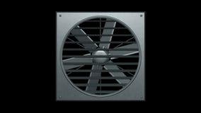 O ventilador industrial deu laços na ilustração trasparent do fundo 3d rende ilustração stock