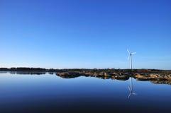 O vento encontra a água Fotografia de Stock