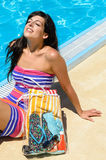O verão aprecia a mulher Imagens de Stock Royalty Free