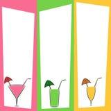 O verão bebe o menu Imagem de Stock Royalty Free