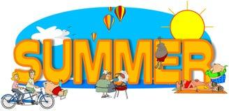 O verão da palavra Imagem de Stock