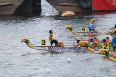 o verão de Hong Kong Dragon Boat Carnival foto de stock